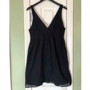 Old Navy L Black Gauze V- Neck Babydoll Dress